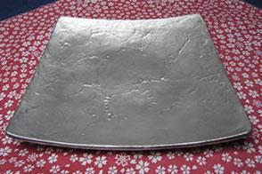 錫製和食器【四方角大皿】|錫|錫器|錫製|酒器|作家|京都