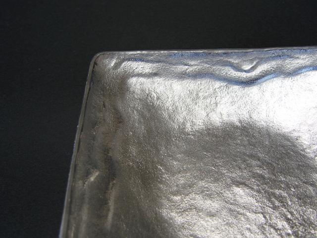 錫製和食器【潮待紋角小皿】作家「小泉均」