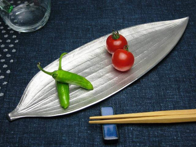 錫製和食器【笹長皿】作家「小泉均」